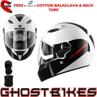 View Item Shark Vision-R GT Carbon Motorcycle Helmet + FREE Balaclava + Neck Tube