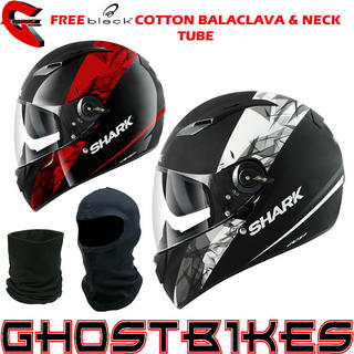 View Item Shark Vision-R Kinum Motorcycle Helmet + FREE Balaclava + Neck Tube