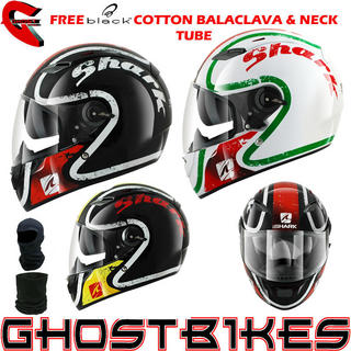 View Item Shark Vision-R Escapade Motorcycle Helmet + FREE Balaclava + Neck Tube