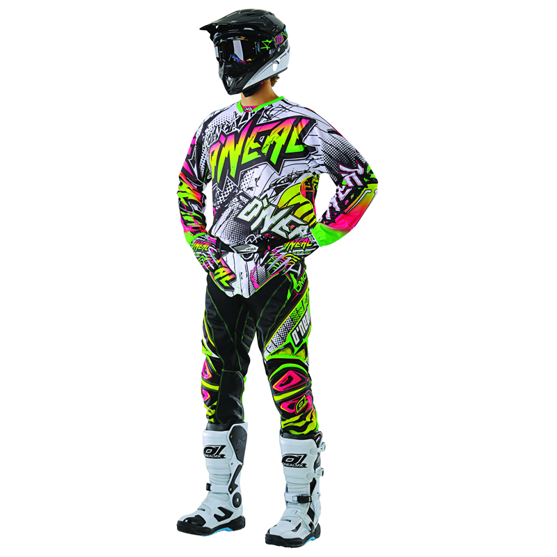 oneal 2013 hardwear automatic white neon mx motocross