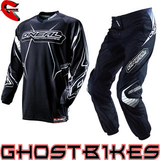 View Item Oneal Element 2013 Racewear Black-White Motocross Kit