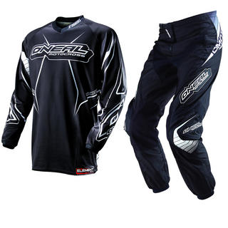 View Item Oneal Element Kids 2013 Racewear Black-White Motocross Kit