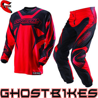 View Item Oneal Element Kids 2013 Racewear Red-Black Motocross Kit