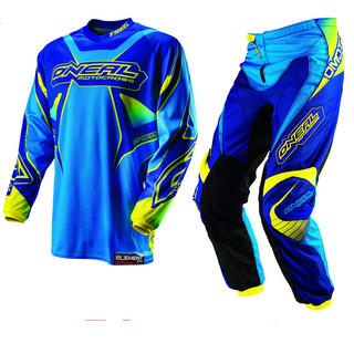 View Item Oneal Element Kids 2013 Racewear Blue-Yellow Motocross Kit