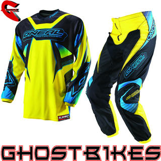 View Item Oneal Element Kids 2013 Racewear Yellow-Black Motocross Kit