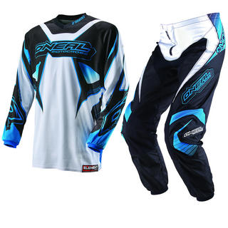 View Item Oneal Element Kids 2013 Racewear White-Blue Motocross Kit