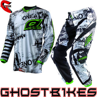 View Item Oneal Element Kids 2013 Toxic Black-Green Motocross Kit