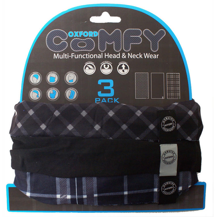 Oxford Comfy Black and White Tartan 3 Pack