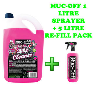 Muc-Off Bike Cleaner 5 Litre + FREE 1 Litre Sprayer