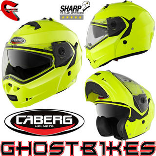 View Item Caberg Duke Hi-Viz Motorcycle Flip Up Helmet