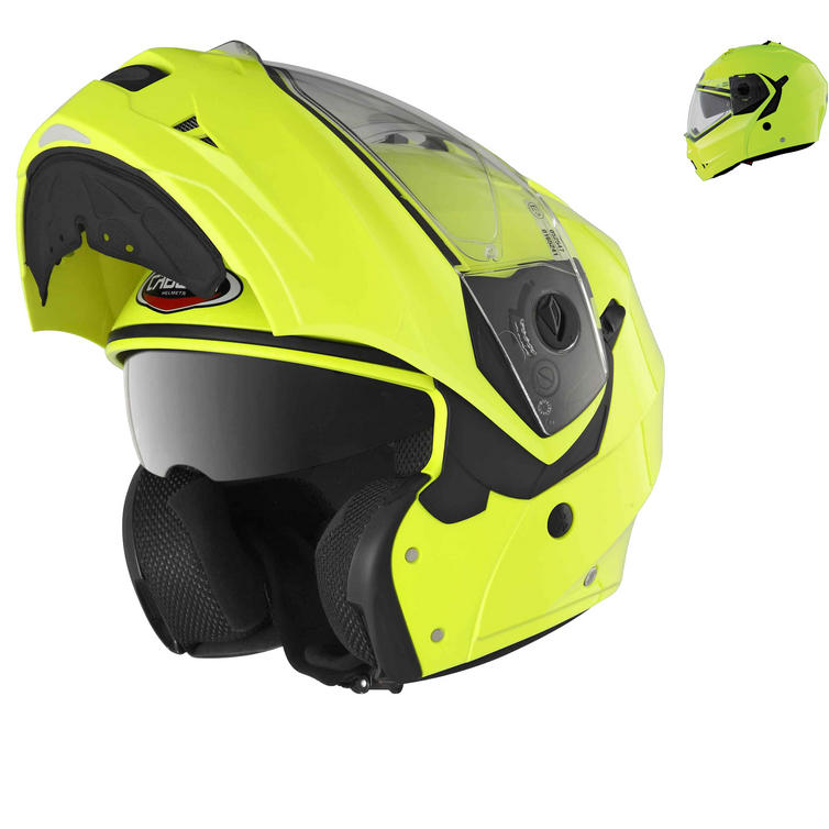 Image of Caberg Duke Hi-Viz Motorcycle Flip Up Helmet