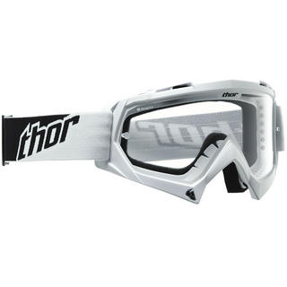 View Item Thor Enemy Solid Youth Motocross Goggles White