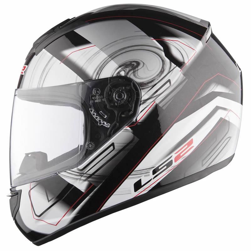M, Mate negro Casco de la motocicleta LS2 FF351 Mono casco integral