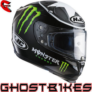 View Item HJC R-PHA10 Monster Ben Spies Replica Motorcycle Helmet