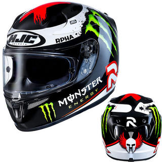 View Item HJC R-PHA 10 Plus 2013 Lorenzo Monster Energy Motorcycle Helmet