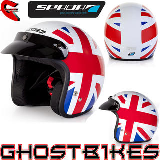 View Item Spada Brit Open Face Motorcycle Helmet