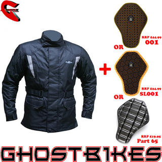 View Item Roxter Waterproof Motorcycle Jacket and Back Protector Insert
