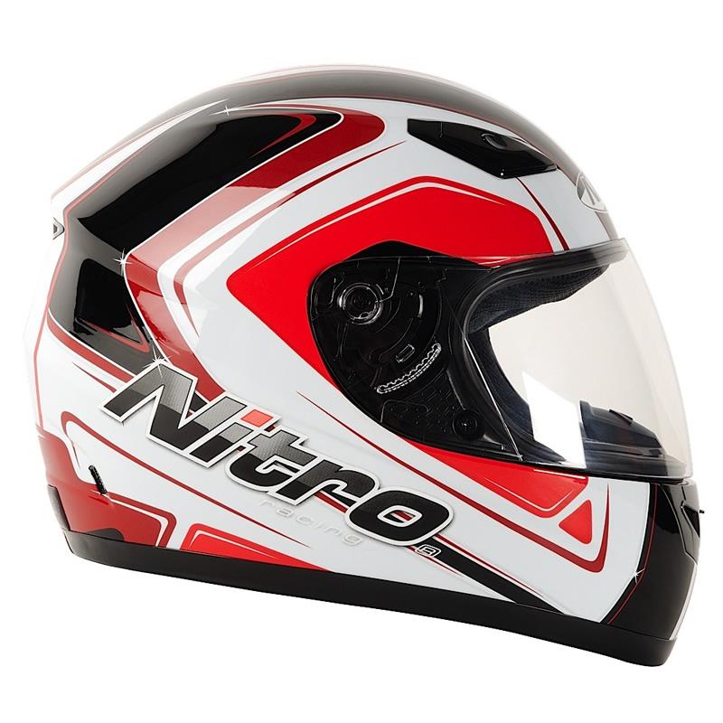 Nitro vertice full face acu approved racing motorbike motorcycle crash