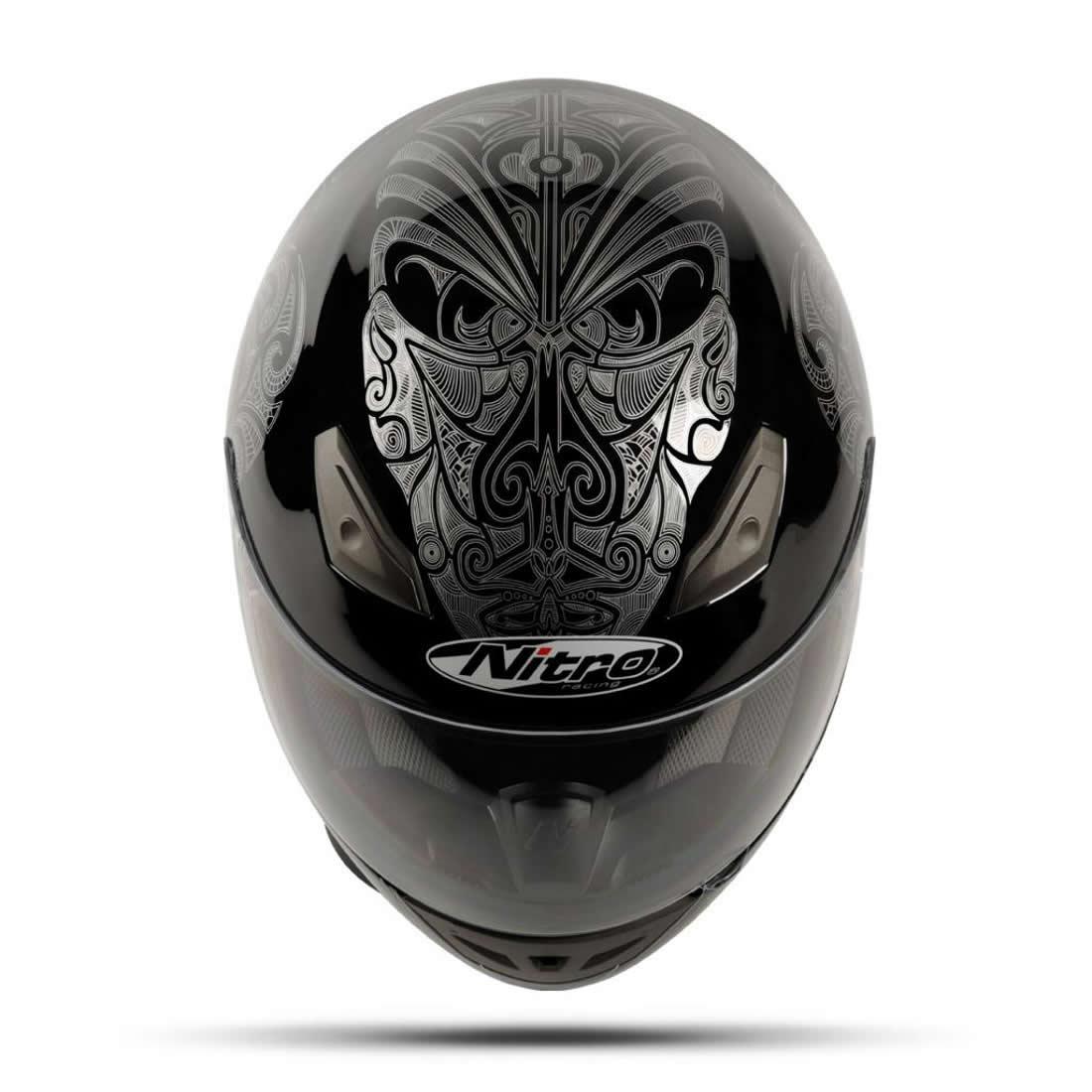 NITRO MOKO LUXE TRIBAL GRAPHIC TATTOO FULL FACE MOTORCYCLE  : 8951 Nitro Moko Luxe Motorcycle Helmet Black 1100 2 <strong>Street Bike</strong> Helmets from www.ebay.com size 1100 x 1100 jpeg 91kB