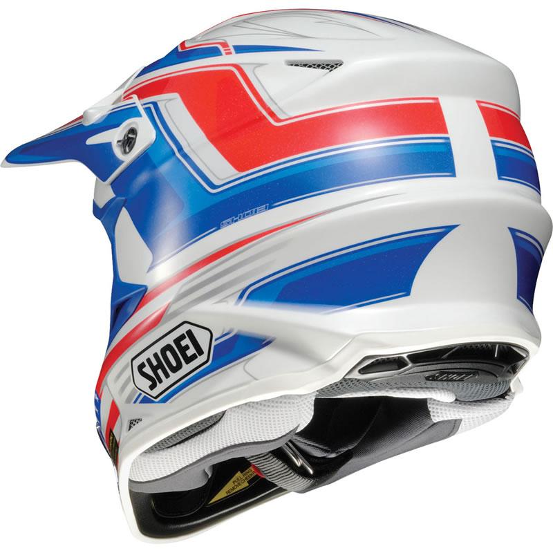 shoei vfx w salute motocross mx enduro off road atv quad pit dirt bike helmet ebay. Black Bedroom Furniture Sets. Home Design Ideas