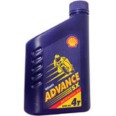Shell Advance SX Motorcycle 4 Stroke Oil 1L