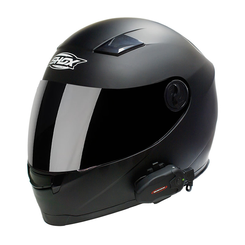 bikecomm hola s intercom motorcycle waterproof bluetooth helmet system headset. Black Bedroom Furniture Sets. Home Design Ideas