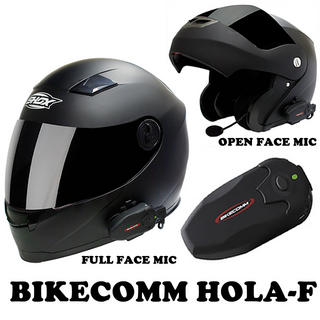 View Item Bikecomm HOLA-F Bluetooth Intercom Single Pack