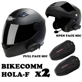 Bikecomm HOLA-F Bluetooth Intercom Twin Pack