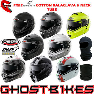 View Item Caberg Duke Motorcycle Helmet + FREE Balaclava + Neck Tube