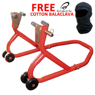View Item Biketek Front Paddock Stand and FREE Black Cotton Balaclava