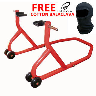 View Item Biketek Rear Paddock Stand and FREE Black Cotton Balaclava
