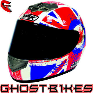 View Item Box BX-1 Union Jack Motorcycle Helmet