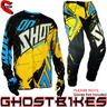 View Item Shot 2013 Contact Live Jersey and Pants Motocross Kit Black Yellow Blue