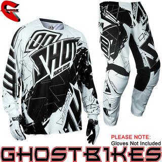 View Item Shot 2013 Contact Live Jersey and Pants Motocross Kit White Black