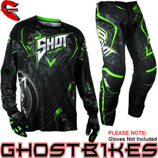 View Item Shot 2013 Contact Lord Jersey and Pants Motocross Kit Black Green