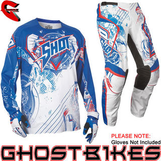 View Item Shot 2013 Contact Lord Jersey and Pants Motocross Kit White Red Blue