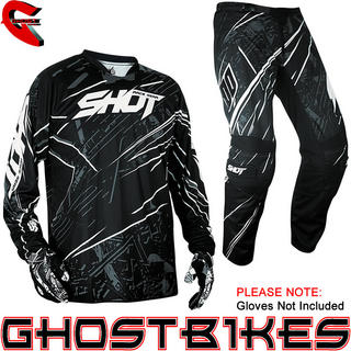 View Item Shot 2013 Devo Motion Jersey and Pants Motocross Kit Black