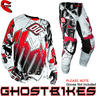 View Item Shot 2013 Flexor Impact Jersey and Pants Motocross Kit White Red