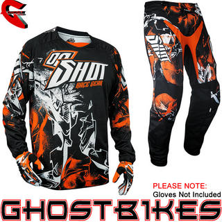 View Item Shot 2013 Flexor Urban Jersey and Pants Motocross Kit Black Orange