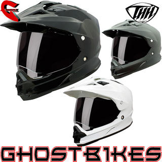 View Item THH TX-26 Plain Dual Sport Motocross Helmet