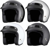 THH T-380 Plain Open Face Cafe Helmet