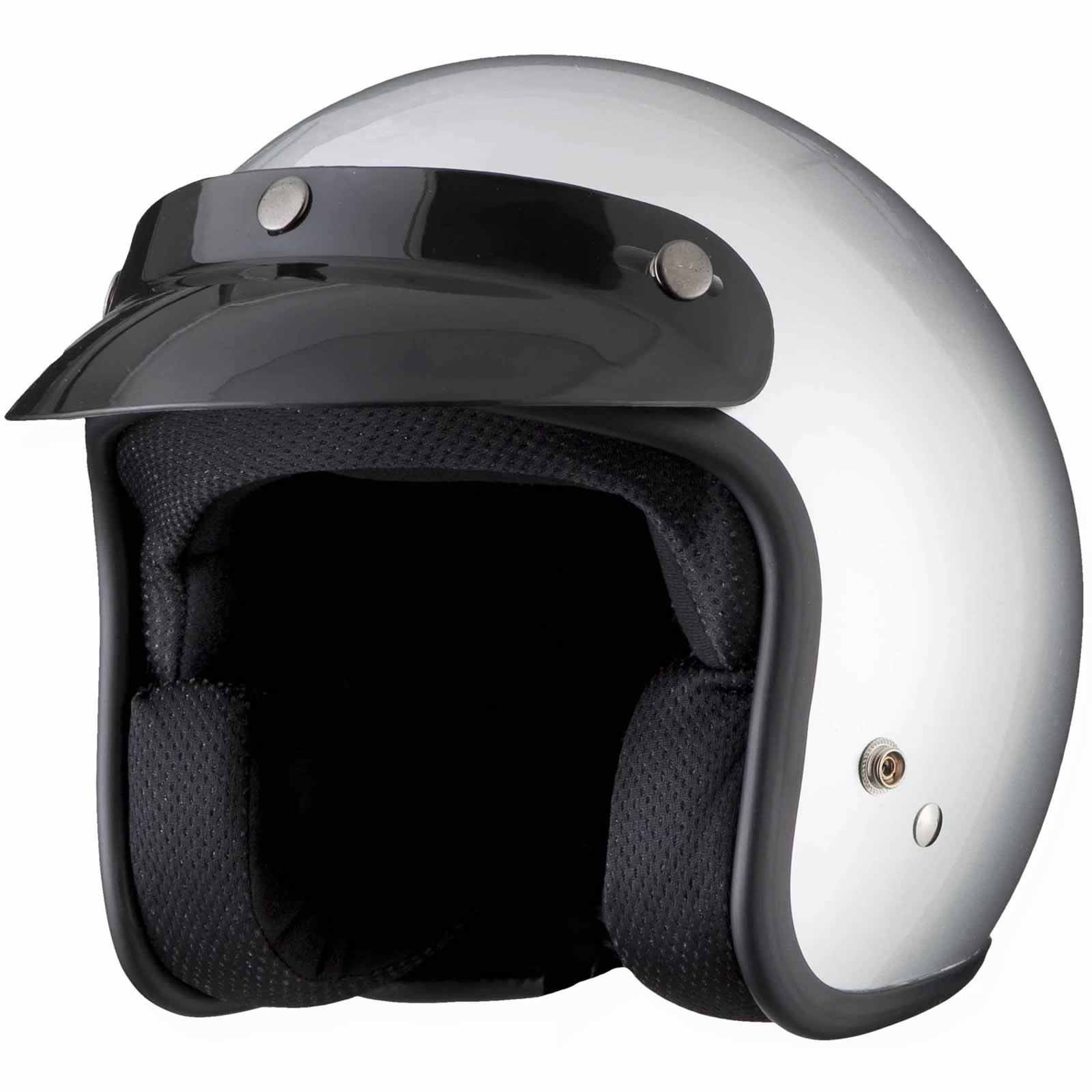 THH T-380 PLAIN PEAK OPEN FACE RETRO MOTORCYCLE SCOOTER MOPED CAFE JET HELMET