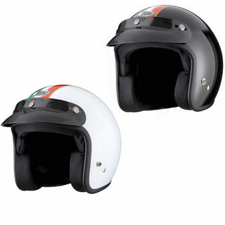 View Item THH T-380 #7 Italia Open Face Cafe Helmet