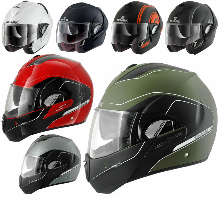 Shark Evoline Series 3 Motorcycle Helmet  + FREE Balaclava + Neck Tube