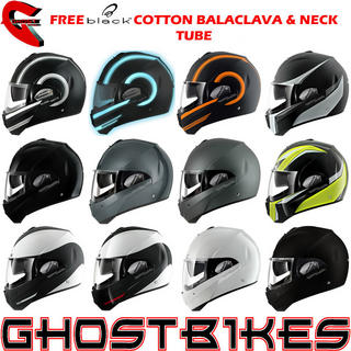 View Item Shark Evoline Series 3 Motorcycle Helmet  + FREE Balaclava + Neck Tube