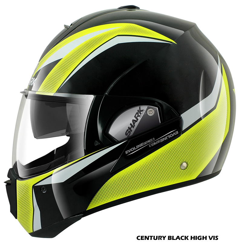 shark evoline series 3 moovit fusion haka century flip front motorcycle helmet. Black Bedroom Furniture Sets. Home Design Ideas