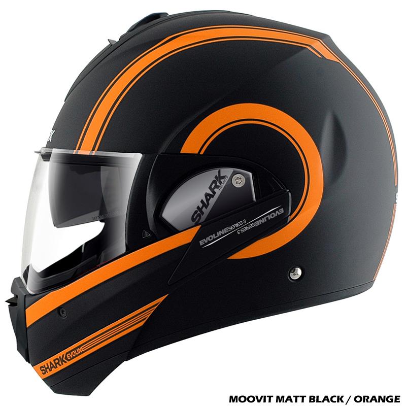 shark evoline series 3 moovit fusion haka century flip front motorcycle helmet ebay. Black Bedroom Furniture Sets. Home Design Ideas