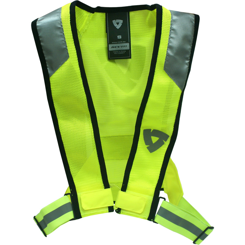 veste gilet haute visibilit fluorescent jaune rev it pour moto ebay. Black Bedroom Furniture Sets. Home Design Ideas
