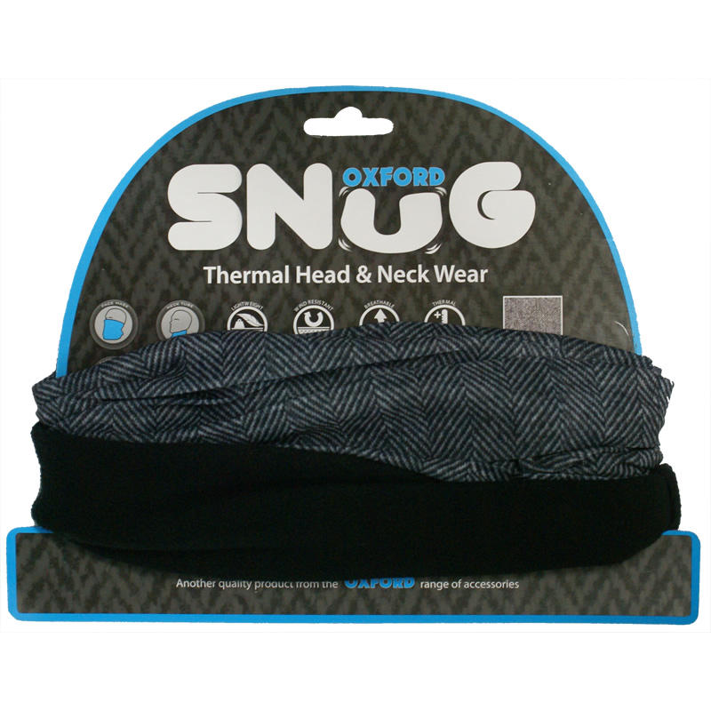 Oxford Snug Black Thermal Head & Neck Wear