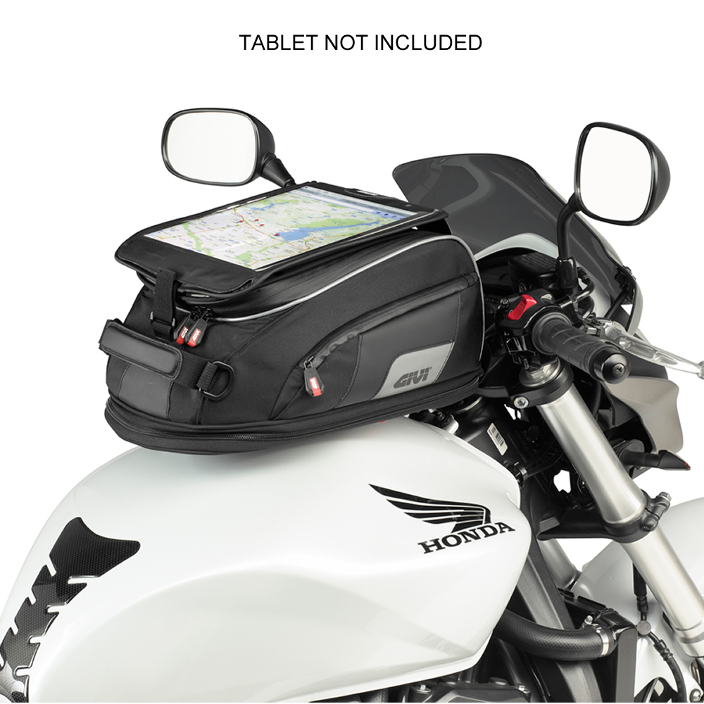givi xs307 xstream range motorcycle bike reflective tanklock expandable tank bag. Black Bedroom Furniture Sets. Home Design Ideas